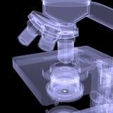 Microscope. X-ray render Royalty Free Stock Photo