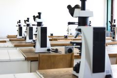 Microscopes Stock Photo