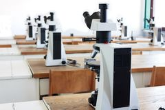 Microscopes Stock Photography
