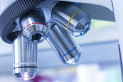 Microscopes in Laboratory Royalty Free Stock Photography