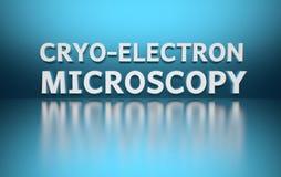 Microscopia del Cryo-electrón de la palabra stock de ilustración