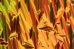 Microscopic Liquid Crystal structure. Of an organic compound Royalty Free Stock Image