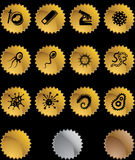 Microscopic Set - gold seal Stock Images
