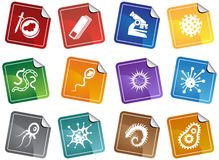 Microscopic Set - sticker Royalty Free Stock Images