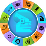 Microscopic Set - wheel Stock Photography