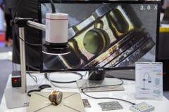 Microscopio óptico superficial de la aspereza 3D fotos de archivo