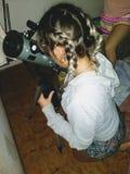 Microscopio - Microscopio fotografie stock