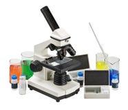 Microscopio Fotografia Stock Libera da Diritti