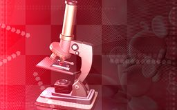 Microscopio Foto de archivo libre de regalías