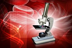 Microscopio Imagenes de archivo
