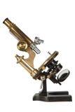 Microscopio bronzeo antico Immagine Stock Libera da Diritti