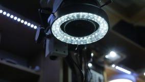 Microscopio con retroiluminación LED almacen de video