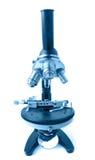 Microscopio de la ciencia Foto de archivo libre de regalías