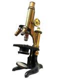 Microscopio de la vendimia Imagen de archivo