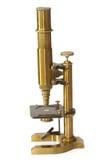 Microscopio dell'annata Fotografia Stock