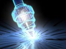 Microscopio Nano - 3D Immagine Stock Libera da Diritti