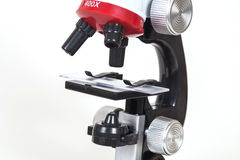 Microscopio, strumento del lavoro Immagini Stock Libere da Diritti