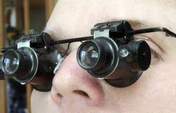 Microscopios especiales de los vidrios fotografía de archivo