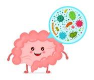Microscopische bacterias micro-flora, virussen Stock Foto's