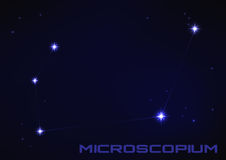 Microscopium constellation Stock Photography