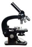 Microscópio velho Fotografia de Stock Royalty Free