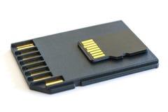 MicroSD-Karte für tragbare Geräte und Sd-Adapter Lizenzfreie Stockbilder