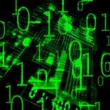 Microsheme et code binaire illustration stock