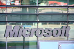 Microsoft. Shot of Microsoft logo Royalty Free Stock Image