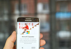 Microsoft applications on Google play Stock Photo