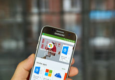 Microsoft applications on Google play Stock Photography