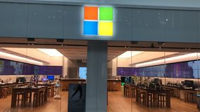 Microsoft armazena foto de stock