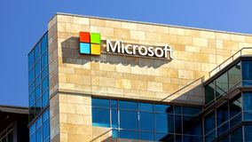 Microsoft Building stock video footage
