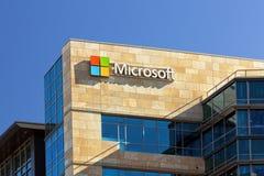 Microsoft byggnad Arkivbild