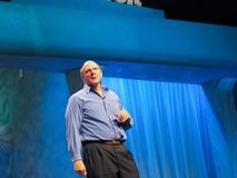 Microsoft CEO Steve Ballmer delivers an address to Microsoft Convergence Stock Image