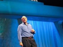 Microsoft CEO Steve Ballmer levert een adres aan Microsoft-Convergentie stock afbeelding