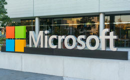 Microsoft corporate building in Silicon valley. Royalty Free Stock Image