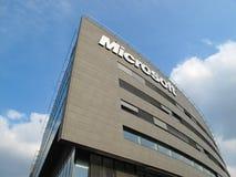Microsoft Corporation building. Microsoft Corporation headquarter, November 26, 2012 in Prague, Czech republic. Microsoft announces opening new 78 stores in the Stock Photos