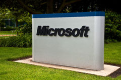 Microsoft Corporation Campus Sign. Redmond, Washington - July 1: Microsoft Corporation announces the Kin mobile phone has been discontinued after one month of Stock Photo