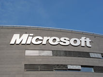 Microsoft Corporation headquarter. September 5, 2012 in Prague, Czech republic. Microsoft announces cooperation on new smartphones with Nokia Royalty Free Stock Photo