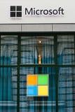 Microsoft Corporation lub MS Wielonarodowa firma zdjęcie royalty free