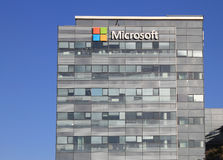 Microsoft corporation office building facade with logo in Herzliya Royalty Free Stock Images