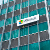 Microsoft corporation office with logo in Singapore Stock Photos