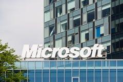 Microsoft- Corporationbyggnad Arkivbild