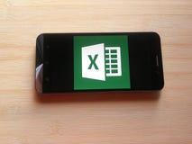 Microsoft Excel app zdjęcie stock