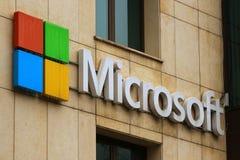 Microsoft högkvarter i Bucharest, Rumänien royaltyfri foto