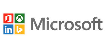 Microsoft and its own brands on white paper Stock Photography