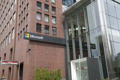 Microsoft kontorsbyggnad på MIT-universitetet royaltyfri fotografi