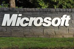 Microsoft Lettering Stock Photo