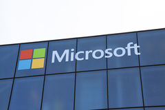 Microsoft letters on a wall Royalty Free Stock Photography