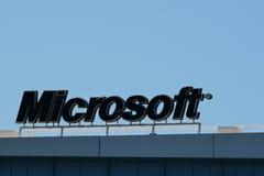 Microsoft logo sign Royalty Free Stock Photo